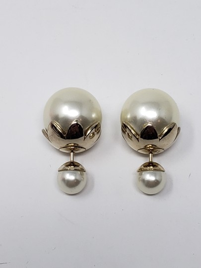 Christian Dior Faux pearl Christian Dior Tribales earrings Image 6