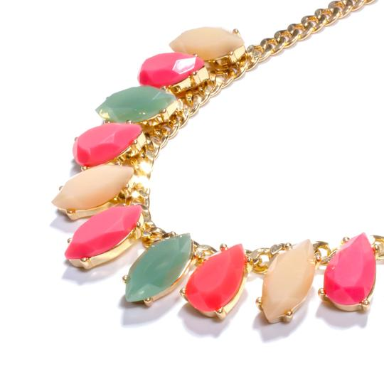 Kate Spade rainbow stone statement necklace Image 3