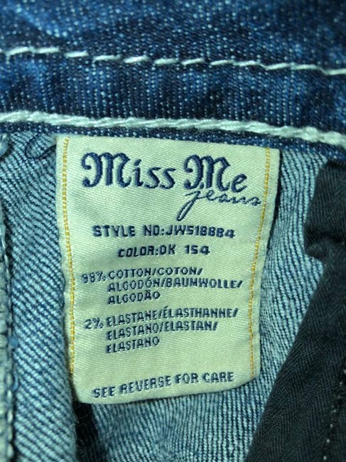 Miss Me Animal Print Boot Cut Jeans-Distressed Image 7