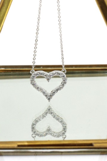 Ocean Fashion Sterling silver lovely crystal heart necklace Image 3