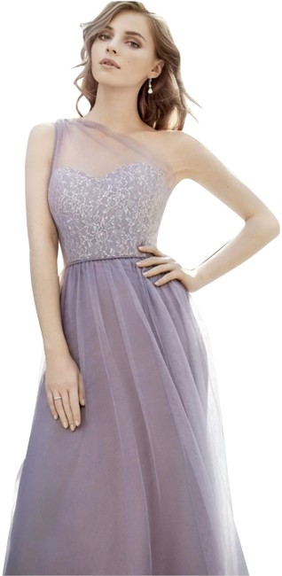 Preload https://img-static.tradesy.com/item/26346735/hayley-paige-silver-metallicmauve-occasions-style-5703-lace-and-tulle-gown-night-out-dress-size-10-m-0-1-650-650.jpg