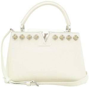 Louis Vuitton Lv Capucines Pm Azur Satchel in White