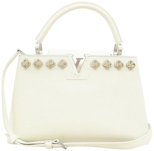 Preload https://img-static.tradesy.com/item/26346827/louis-vuitton-capucines-pm-white-calfskin-satchel-0-2-540-540.jpg