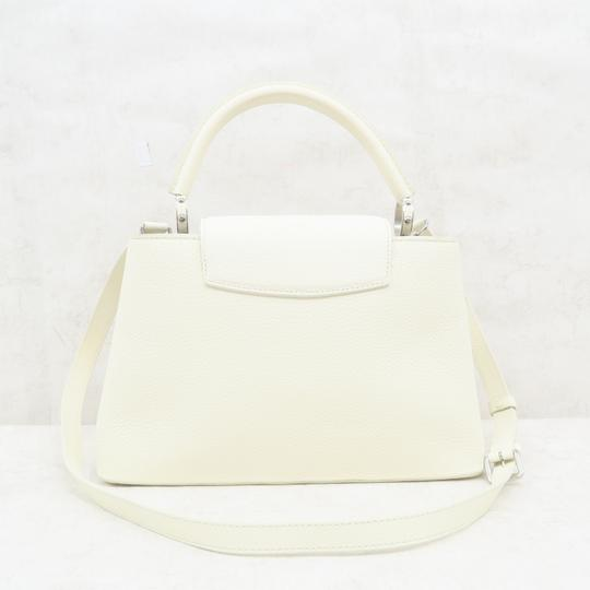 Louis Vuitton Lv Capucines Pm Azur Satchel in White Image 2