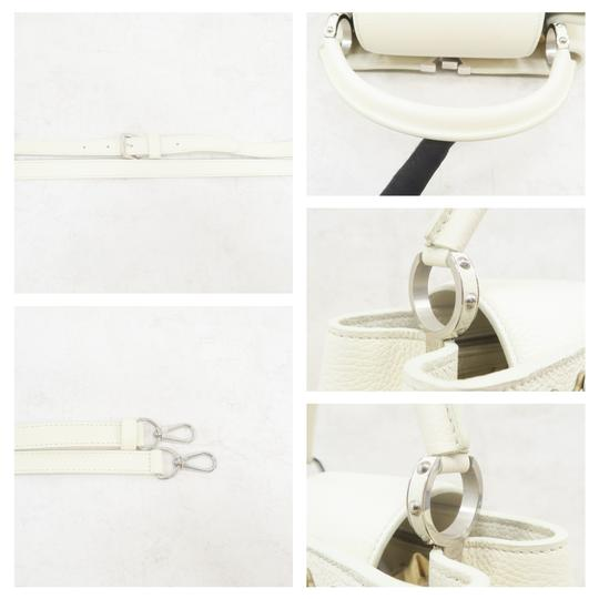 Louis Vuitton Lv Capucines Pm Azur Satchel in White Image 6