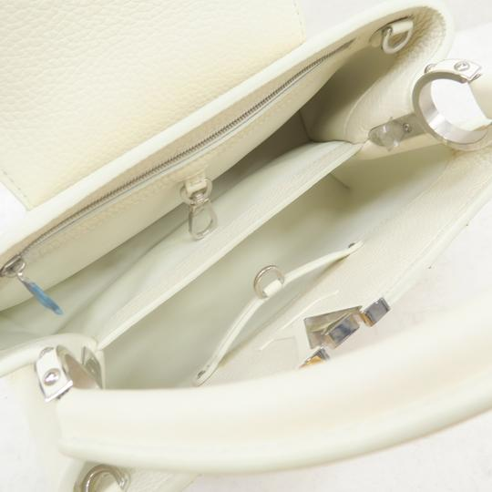 Louis Vuitton Lv Capucines Pm Azur Satchel in White Image 8