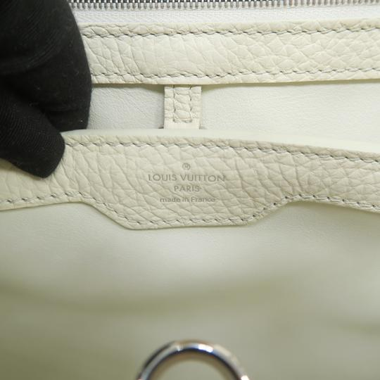 Louis Vuitton Lv Capucines Pm Azur Satchel in White Image 9