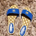 Chanel BLUE Sandals Image 9