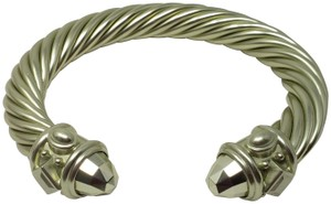 David Yurman Lime green aluminum David Yurman Renaissance wide bracelet