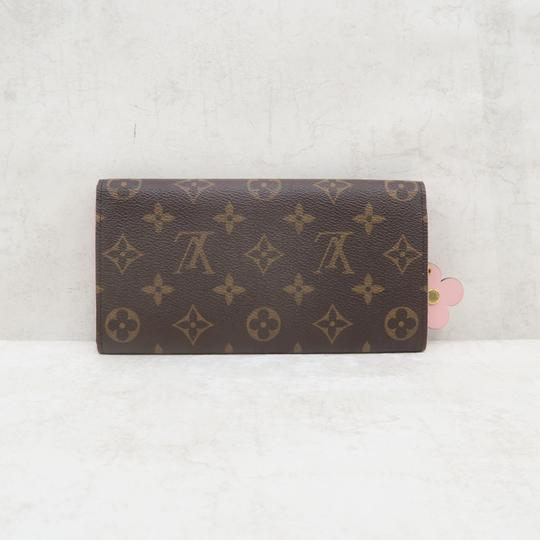 Louis Vuitton Louis Vuitton Brown Emilie Monogram Canvas Wallet Image 2