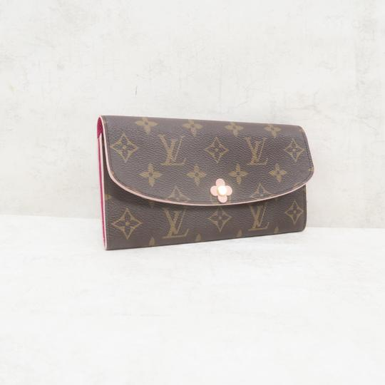 Louis Vuitton Louis Vuitton Brown Emilie Monogram Canvas Wallet Image 3