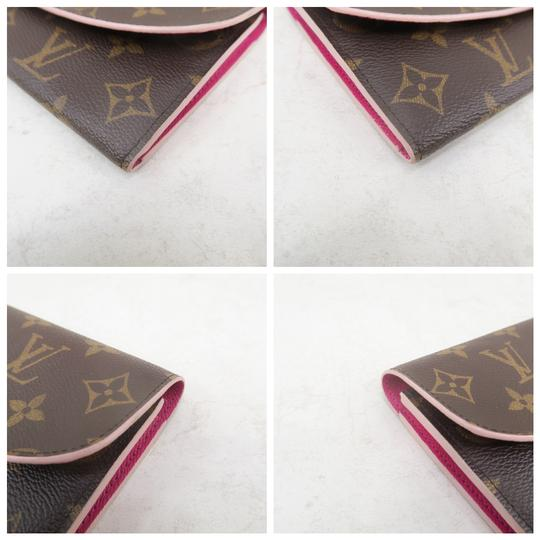 Louis Vuitton Louis Vuitton Brown Emilie Monogram Canvas Wallet Image 6