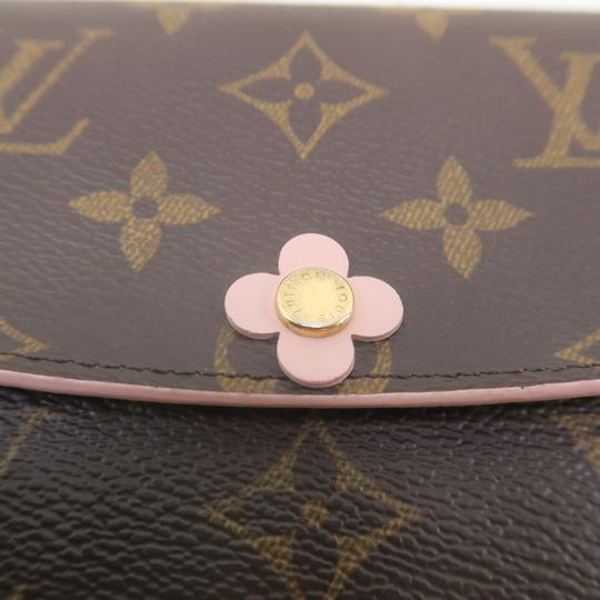 Louis Vuitton Louis Vuitton Brown Emilie Monogram Canvas Wallet Image 8