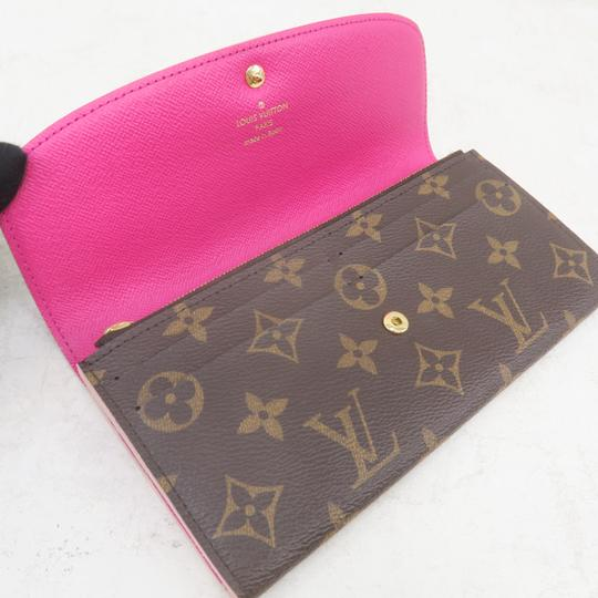 Louis Vuitton Louis Vuitton Brown Emilie Monogram Canvas Wallet Image 9