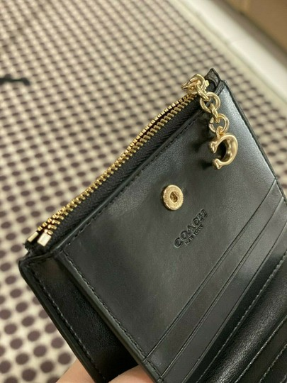 Coach COACH SNAP CARD CASE SMALL WALLET F78002 Brown/black Image 4