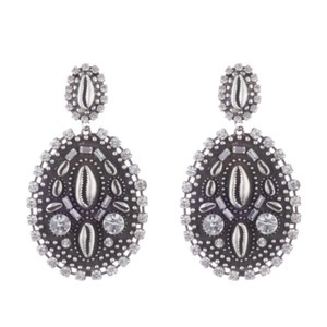 DANNIJO DANNIJO Spano Metal Shell Drop Earrings