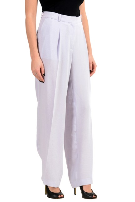 Hugo Boss Wide Leg Pants Purple Image 1