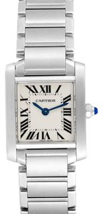 Cartier Cartier Tank Francaise Small Steel Ladies Watch W51008Q3 Box Papers