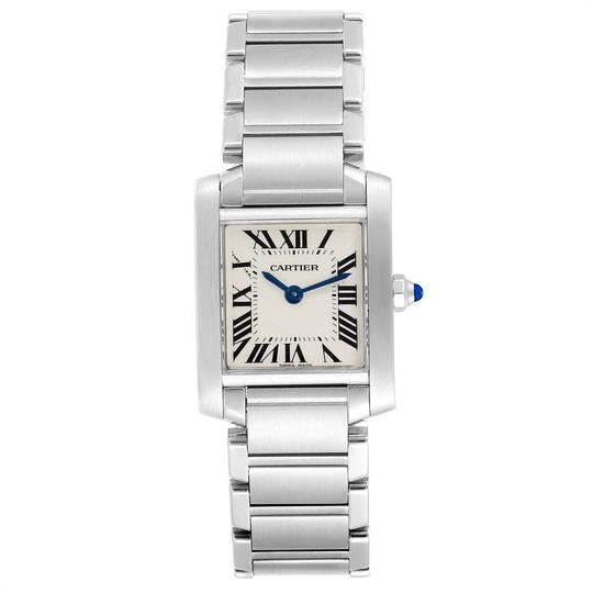 Cartier Cartier Tank Francaise Small Steel Ladies Watch W51008Q3 Box Papers Image 1