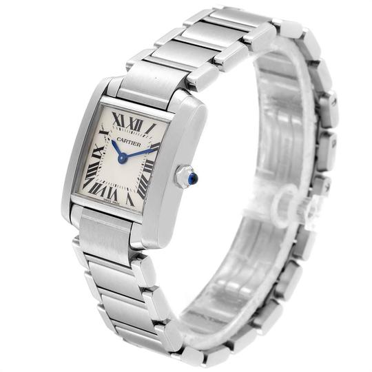 Cartier Cartier Tank Francaise Small Steel Ladies Watch W51008Q3 Box Papers Image 3