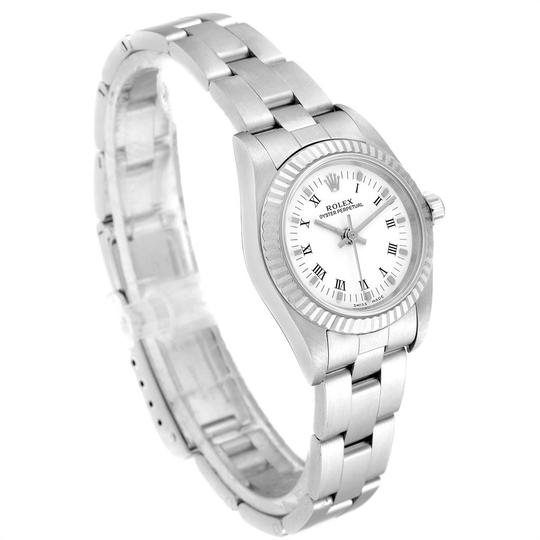 Rolex Rolex Oyster Perpetual Steel White Gold Ladies Watch 76094 Box Papers Image 2
