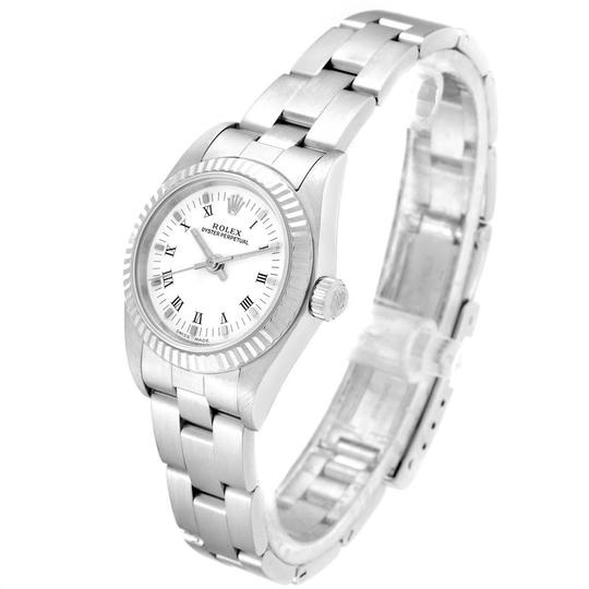 Rolex Rolex Oyster Perpetual Steel White Gold Ladies Watch 76094 Box Papers Image 3