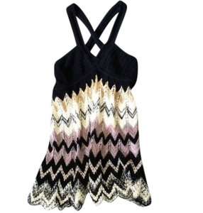 M Missoni Crochet Multicolor Halter Top