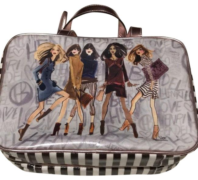 Item - Izak For Cosmetic Toiletries Brown White Multi Weekend/Travel Bag