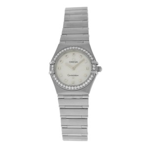 Omega Ladies' Omega Constellation 895.1241 Steel MOP Diamond Quartz 26MM