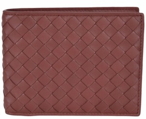 Bottega Veneta NEW Bottega Veneta Men's 148324 Russet Woven Leather Bifold Wallet