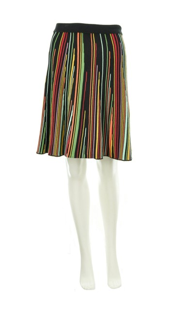 Item - Black Striped Cotton Flair Small Skirt Size 4 (S, 27)