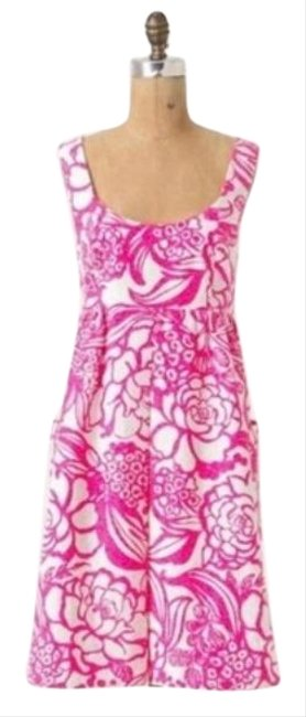 Item - Pink and White Virginia Vanessa Virginia: Garden Party Short Casual Dress Size Petite 4 (S)