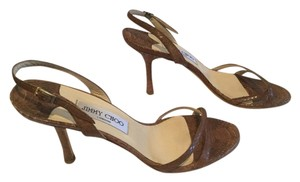 Jimmy Choo All Leather Brown Sandals