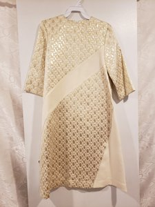 Gold / Petite Long Sleeve Modest Bridesmaid/Mob Dress Size OS (one size)