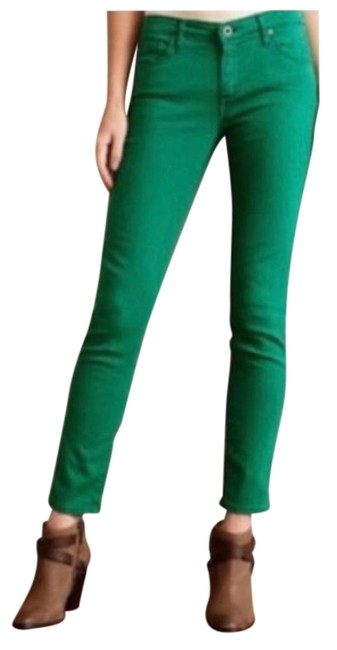 Item - Kelly Green Stevie Slim Straight Corduroys Pants Size 4 (S, 27)