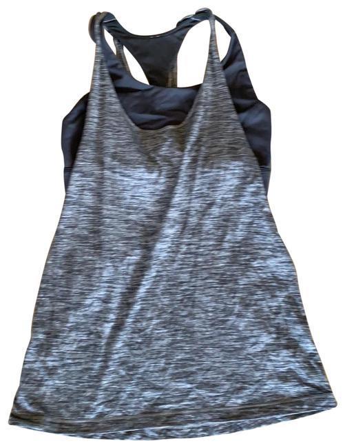 Item - Black and Grey Activewear Top Size 6 (S)