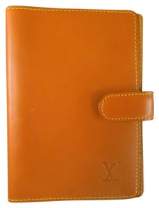 Louis Vuitton LOUIS VUITTON Tan Leather AGENDA FUNCTIONNEL