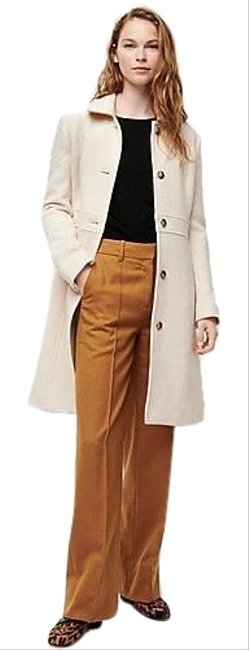 Item - Vanilla White Nwt. Classic Lady Day In Italian Double-cloth Wool with Thinsulate® Coat Size Petite 12 (L)
