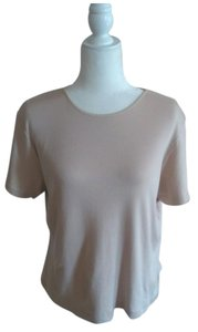 Laura Scott Vintage Shell Neutral Classic Traditional T Shirt Light Tan