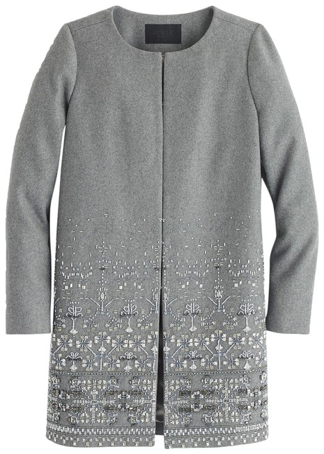 Item - Gray Cocoon Collection In Embellished Italian Wool Melton Coat Size 8 (M)