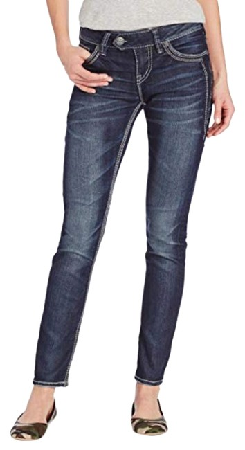 Item - Blue Dark Rinse Tuesday Mid Skinny Jeans Size 25 (2, XS)