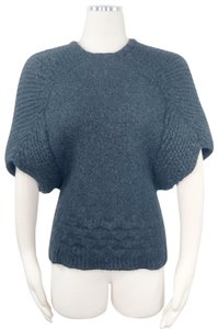 VPL Dolman Sleeves Cape Cable Knit Chunky Alpaca Sweater