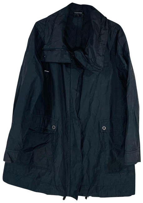 Item - Gray High Collar Weather Resistant Utility Jacket Size 8 (M)