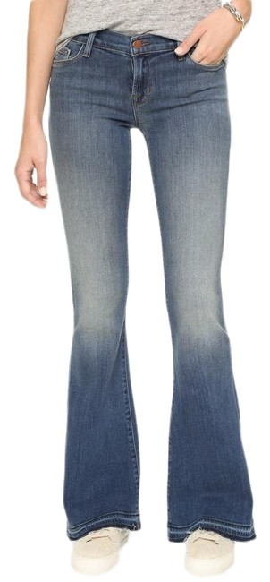 Item - Blue Light Wash Sneaker Stretchy In Ashbury Flare Leg Jeans Size 6 (S, 28)