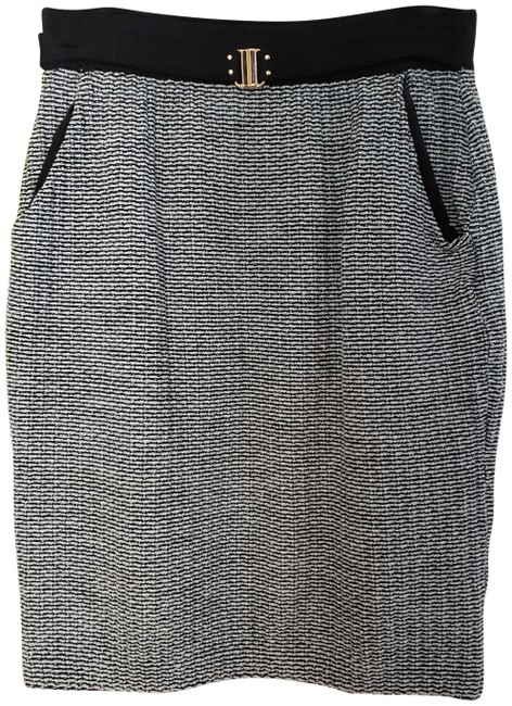 Item - Black and Teal Collection By Marie Gray Womens Knitted Career Skirt Size 6 (S, 28)