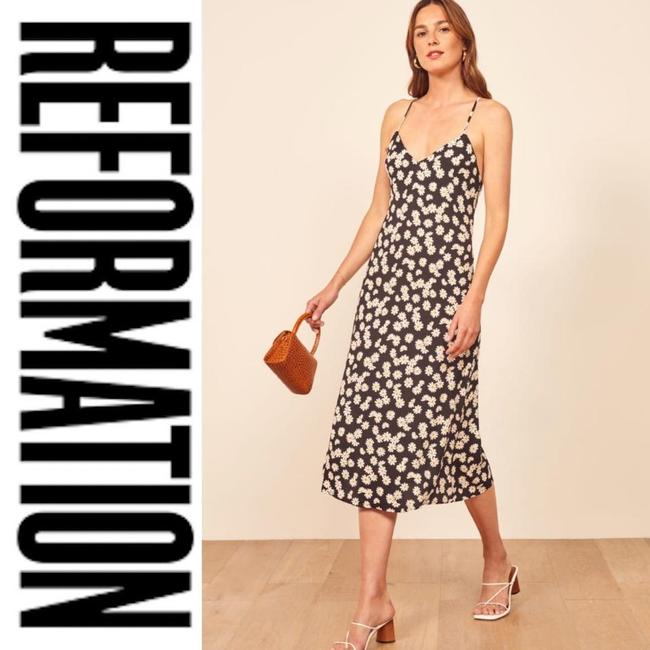 Black Maxi Dress by Reformation Date Night Sexy Vacation Formal Image 1