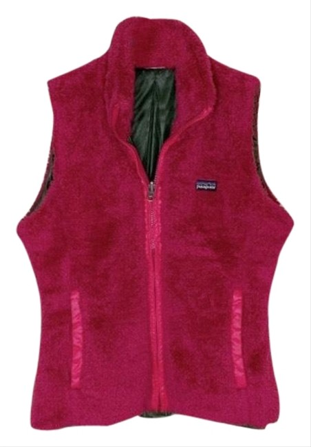 Item - Pink/Green Woolie Reversible Vest Size 4 (S)