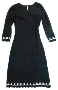 Hanna Andersson short dress Black Combed Cotton Knitted Milano Embellished 3/4 Sleeve on Tradesy