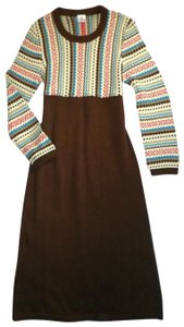 Brown Maxi Dress by Hanna Andersson Fair Isle Nordic Long Sleeve Knitted Sweater