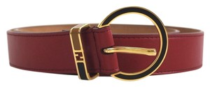 Fendi Red Gold Buckle Leather